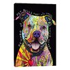 iCanvas Beware of Pit Bulls by Dean Russo Graphic Art on Canvas