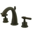 Milano Double Handle Centerset Bathroom Sink Faucet with