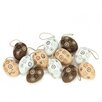 Northlight Seasonal Floral Cut-Out Spring Easter Egg Ornament (Set of 12)