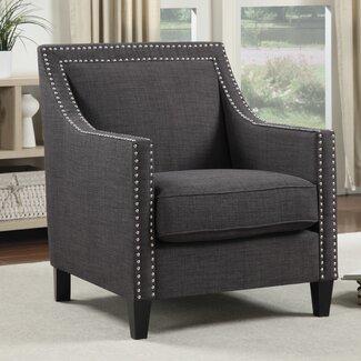 Three Posts Rotterdam Studded Arm Chair You Ll Love Wayfair