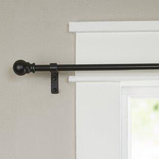 Wayfair Basics Single Curtain Rod and Hardware Set