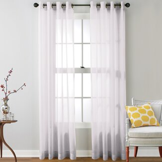 Caldera Sheer Grommet Curtain Panels (Set of 2)