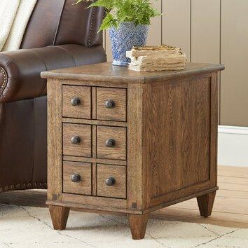 Birch Lane Derrickson Chairside Table With Drawers