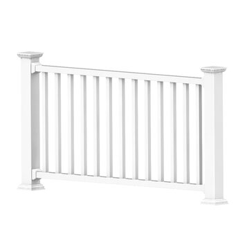 Xpanse select vinyl railing rail kit reviews wayfair - Vinyl railing reviews ...