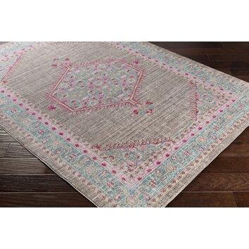 stefan blue pink area rug reviews joss main. Black Bedroom Furniture Sets. Home Design Ideas