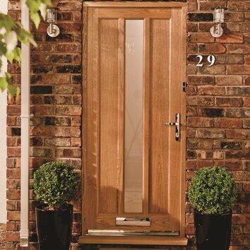 Jeld Wen Lexington Wood 1 Panel Glazed External Door