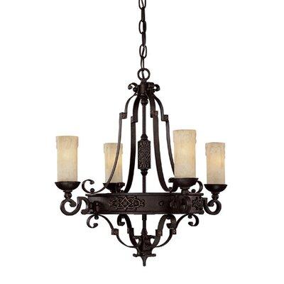 capital lighting river crest 4light candlestyle chandelier u0026 reviews wayfair - Capital Lighting