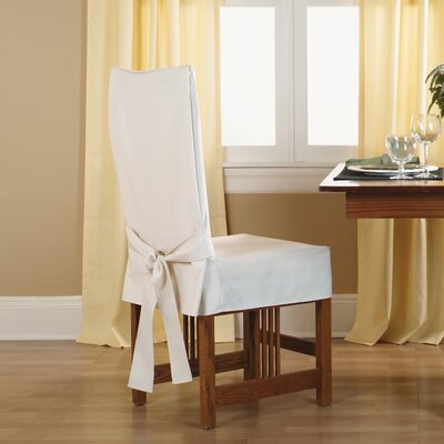Sure Fit Cotton Duck Shorty Dining Chair Slipcover & Reviews | Wayfair