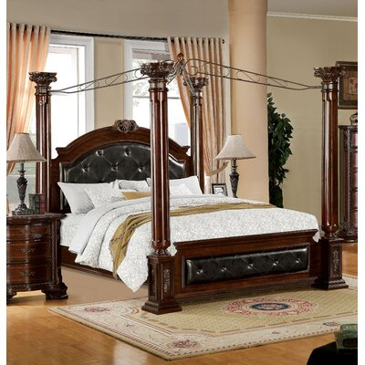 Canpoy Bed astoria grand edmore upholstered canopy bed & reviews | wayfair