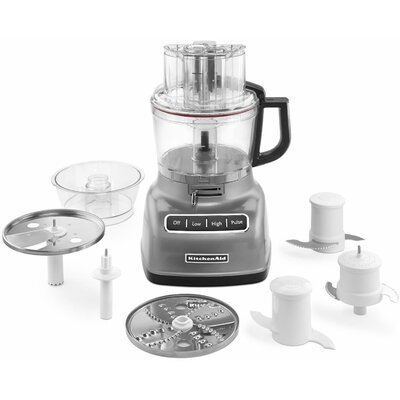 kitchenaid 9-cup food processor with exactslice system and
