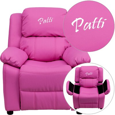 Flash Furniture Deluxe Contemporary Personalized Kids Recliner with Storage Compartment u0026 Reviews | Wayfair  sc 1 st  Wayfair & Flash Furniture Deluxe Contemporary Personalized Kids Recliner ... islam-shia.org