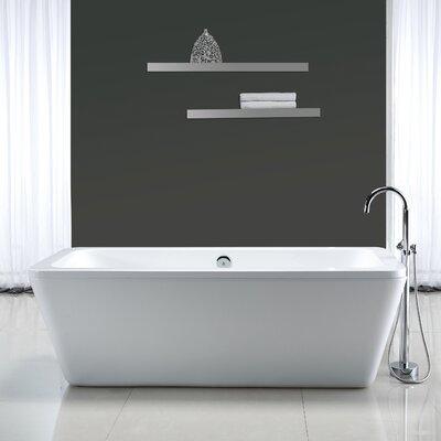 freestanding tub end drain. Ove Decors Kido 69  x 23 Acrylic Freestanding Bathtub Reviews Wayfair