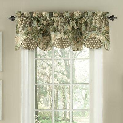 Waverly Garden Glory Scalloped Floral Curtain Valance U0026 Reviews | Wayfair