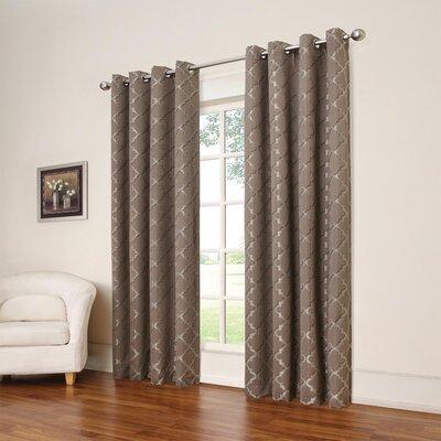 Eclipse Curtains Tipton Trellis Blackout Thermal Single Curtain ...