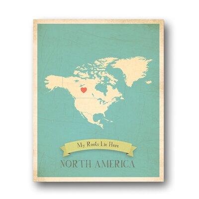 Children Inspire Design My Roots North America Map Graphic Art on