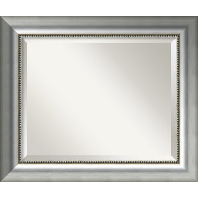 Silver Wall Mirrors willa arlo interiors rectangle burnished silver wall mirror