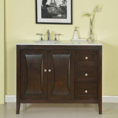 silkroad exclusive 45 single sink cabinet bathroom vanity set