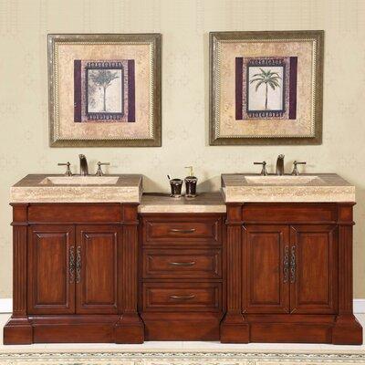 "83 Inch Bathroom Vanity silkroad exclusive stanton 83"" double bathroom vanity set"