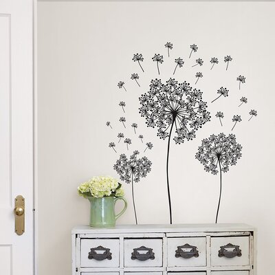 Small Wall Art wallpops! wall art kit dandelion small wall decal & reviews   wayfair