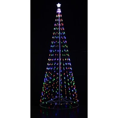 homebrite solar outdoor led cone tree reviews wayfair - Led Outdoor Christmas Tree