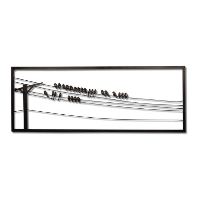 Wire Wall Art plastec birds on wire wall art & reviews | wayfair