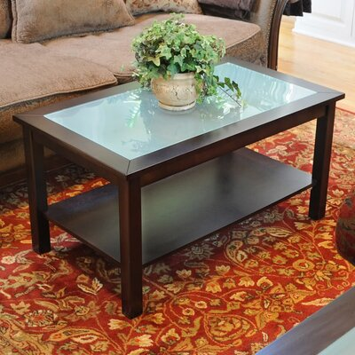 Wildon Home Bay Shore Coffee Table with Glass Top Reviews