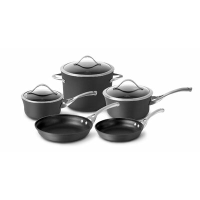 calphalon nonstick 8piece cookware set u0026 reviews wayfair