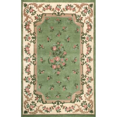 American Home Rug Co. Floral Garden Aubusson Light Green/Ivory Area Rug U0026  Reviews | Wayfair