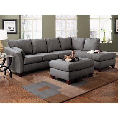 Klaussner Furniture Higgins Sectional U0026 Reviews | Wayfair
