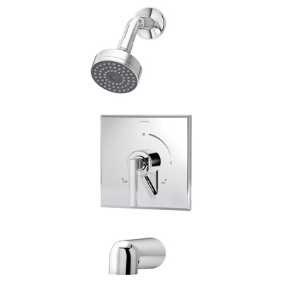 symmons duro pressure balance tub and shower faucet trim with lever handle u0026 reviews wayfair