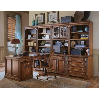 hooker furniture brookhaven modular l-shape desk office suite