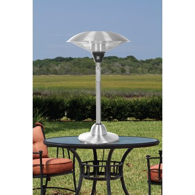 Fire Sense Stainless Steel 1500 Watt Electric Tabletop Patio Heater U0026  Reviews | Wayfair