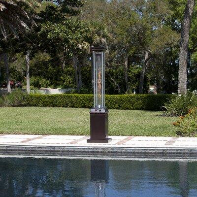 Fire Sense Hammered Square Flame 46,000 BTU Propane Patio Heater U0026 Reviews  | Wayfair