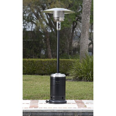 Great Fire Sense Hammer Tone U0026 Stainless Steel Commercial 46,000 BTU Propane  Patio Heater U0026 Reviews | Wayfair