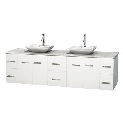 "wyndham collection centra 80"" double bathroom vanity set 