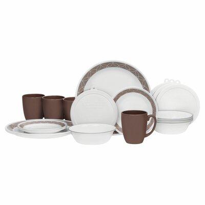 Corelle Livingware Sand Sketch 20 Piece Dinnerware Set, Service For 4 U0026  Reviews   Wayfair