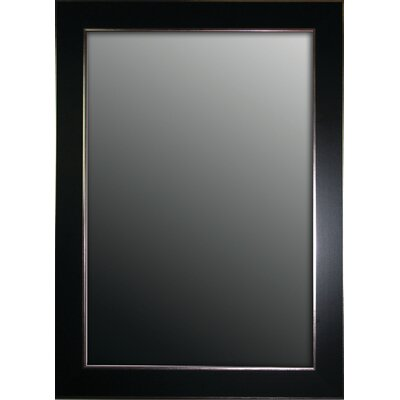 Black Wall Mirrors second look mirrors semi matte black with silver trim edges wall