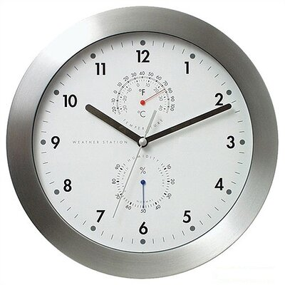 Bai Design 11 Weather Master Weather Station Modern Wall Clock