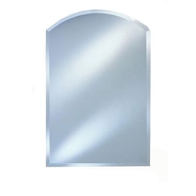 Frameless Wall Mirror afina radiance arch top frameless wall mirror & reviews | wayfair