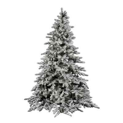 vickerman flocked utica 75u0027 green fir artificial christmas tree with unlit with stand u0026 reviews wayfair
