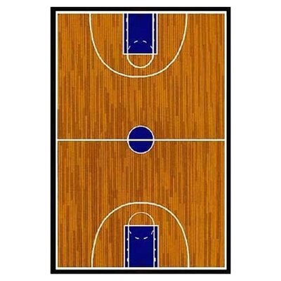 fun rugs supreme basketball court sports brown area rug & reviews
