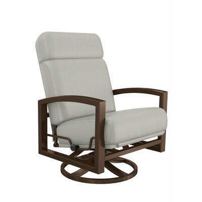 Tropitone Lakeside Swivel Action Lounge Rocking Chair with Cushions ...