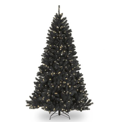 national tree co north valley 75 black spruce artificial christmas tree with 550 clearwhite lights with stand reviews wayfair - 75 White Christmas Tree