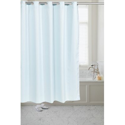 White Waffle Shower Curtain carnation home fashions pre hooked™ waffle weave shower curtain