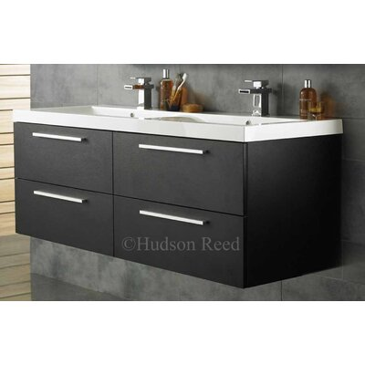 Hudson reed quartet 144cm wall mounted double basin vanity - Wayfair furniture bathroom vanities ...
