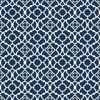 "york wallcoverings waverly small prints 33' x 20.5"" lovely lattice"