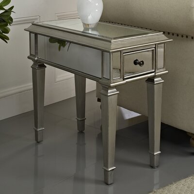 Powell Mirrored End Table Reviews Wayfair