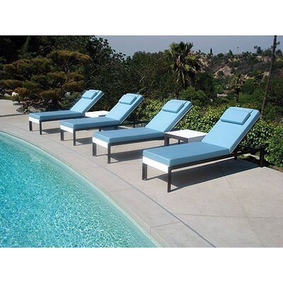 Modern outdoor etra lounge chaise lounge with cushion for Chaise lounge band