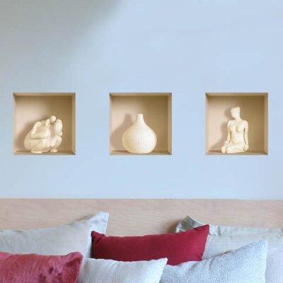 Nisha 3d effect ceramic figure wall mural reviews for Ceramic wall mural