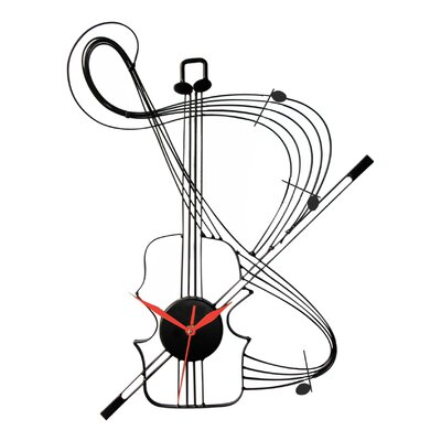 Ashton Sutton Musical Instrument Wall Clock Reviews Wayfair